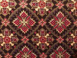 Batik design mondkapje (Zwart/Blauw of Zwart/Rood)
