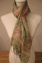 Batik Zijden Sjaal Groen