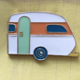 Pin retro caravan