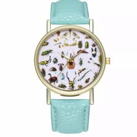 Horloge allemaal beestjes groen