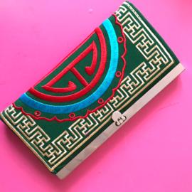 Portemonnee ethnisch groen