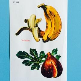 Decal banaan en vijg