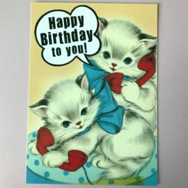 Kaartje kitten birthday