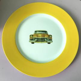 Groot bord vintage auto