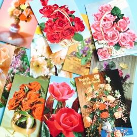 Vintage kaarten bloemen