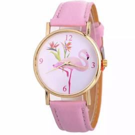 Horloge flamingo roze