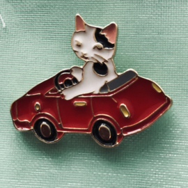 Pin retro poes in auto