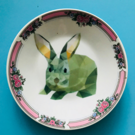 Bordje grafisch konijn