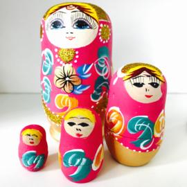 Matroushka roze glitter nr 16