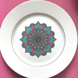 Bordje kleurrijk motief