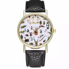 Horloge allemaal beestjes zwart