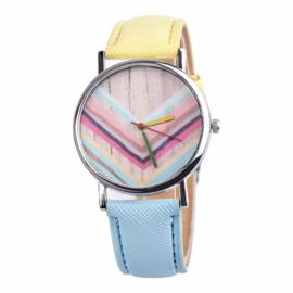 Horloge rainbow blauw