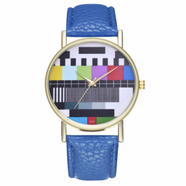 Horloge testbeeld blauw