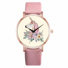 Horloge unicorn roze
