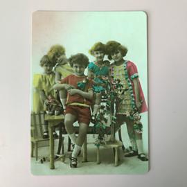 Kaartje vintage meisjes