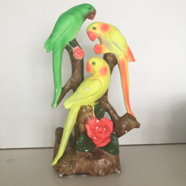 Hysterisch vintage vogelbeeld