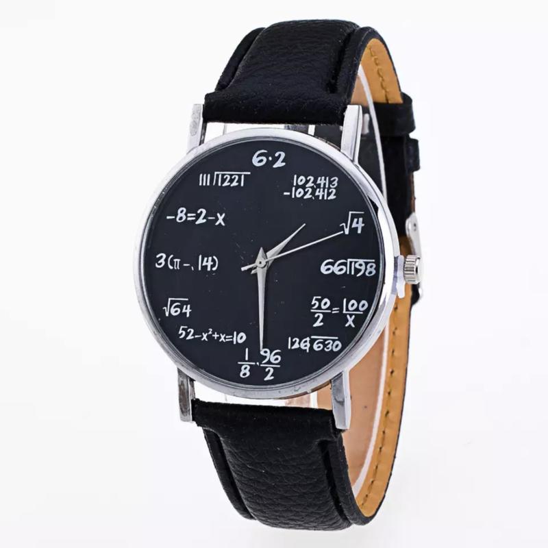 Horloge wiskunde zwart