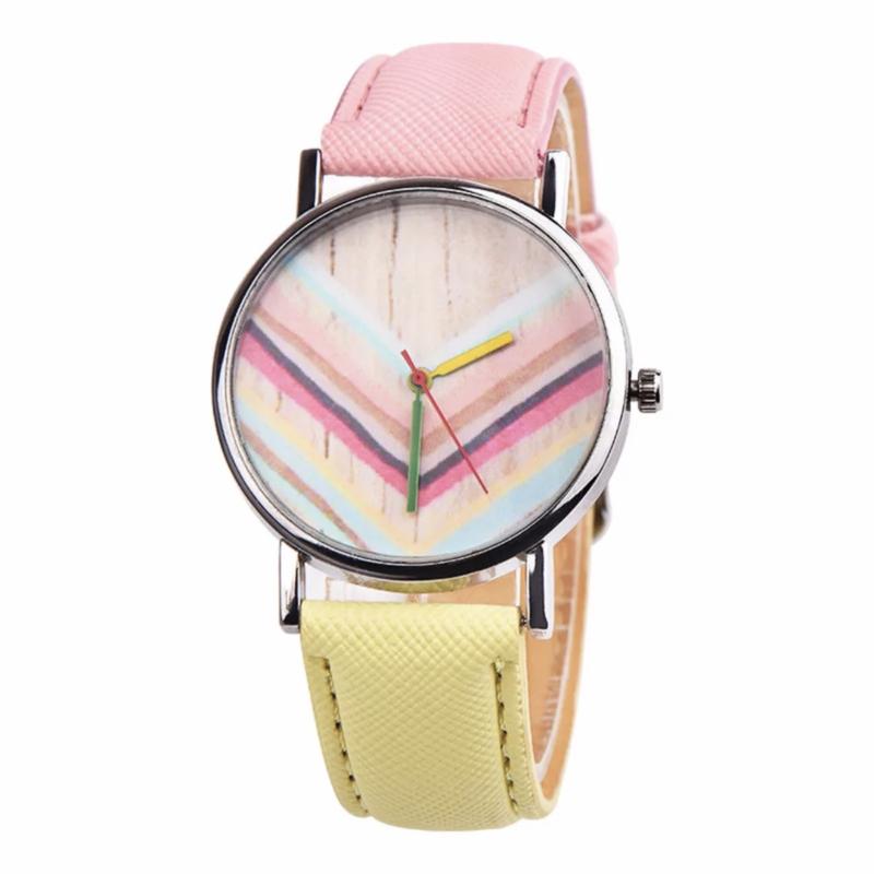 Horloge rainbow roze