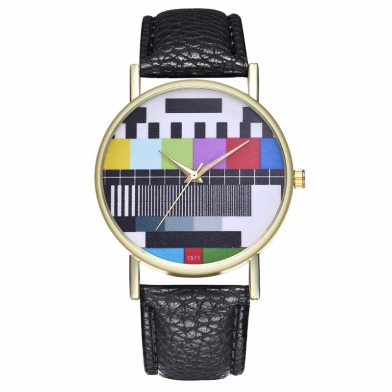 Horloge testbeeld zwart