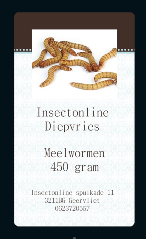 meelworm insectonline diepvries 450 gram