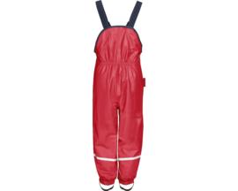 Rode gevoerde regenbroek / skibroek / kruipbroek