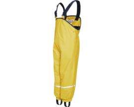 Gele gevoerde regenbroek / skibroek / kruipbroek