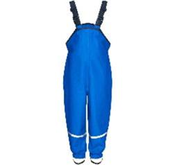 Regenbroek met bretels Korenblauw