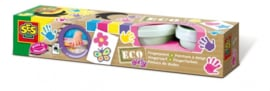 SES ECO Vingerverf Roze/Paars/Geel/Lichtblauw