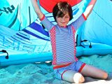 UV Shirt Blue Stripe
