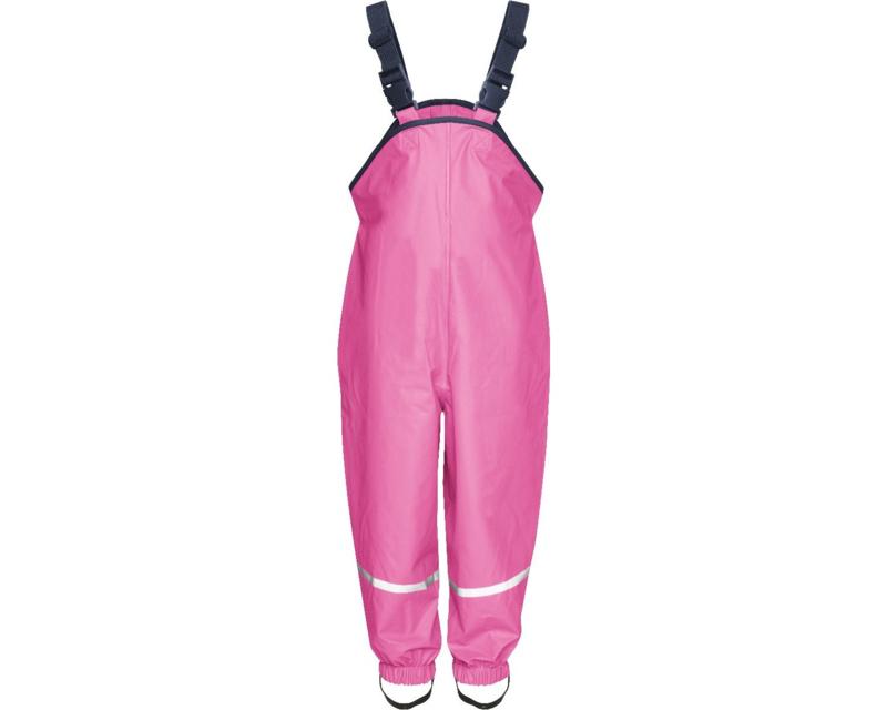 Regenbroek met bretels Roze
