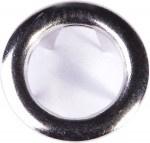 Metalen drukkers 11mm - Nickel-Zilver - 10 sets