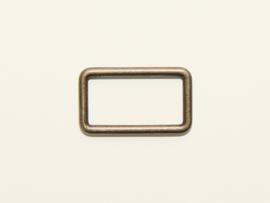 Passant brons rechthoek 30mm