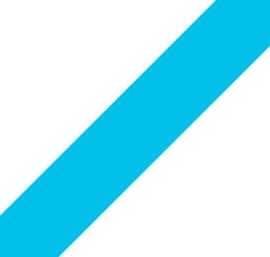 Elastiek - Turquoise - 40mm