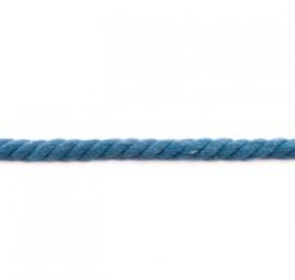 Dik gedraaid koord - Jeansblauw