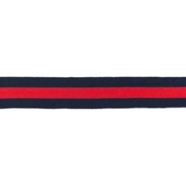 Broekstreep Donkerblauw-Rood - 35mm