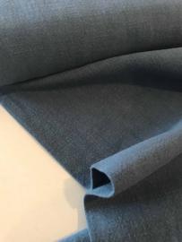 Ramie - biowashed linnen look - jeansblauw