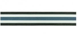 Broekstreep Zwart-Wit-Kobalt- 25mm