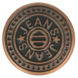 Jeansknopen brons