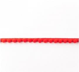 Bolletjesband - Midi - Rood