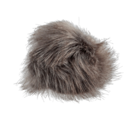 Fluffy pompon Muisgrijs