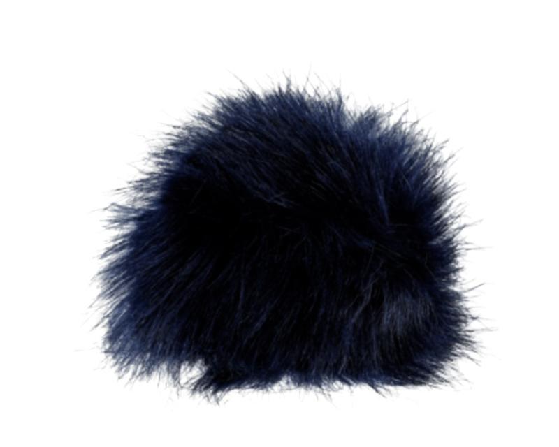 Fluffy pompon Marineblauw