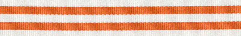Ripsband Stripe Oranje-Wit - 15mm