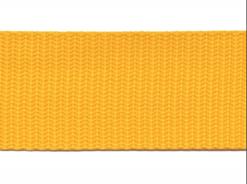 Tassenband - Nylon - Geel - 30mm