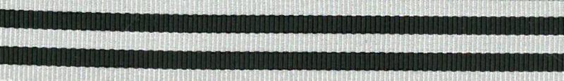 Ripsband Stripe Grijs-Zwart - 15mm