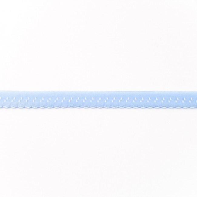 Elastische Biaisband Luxe - Lichtblauw