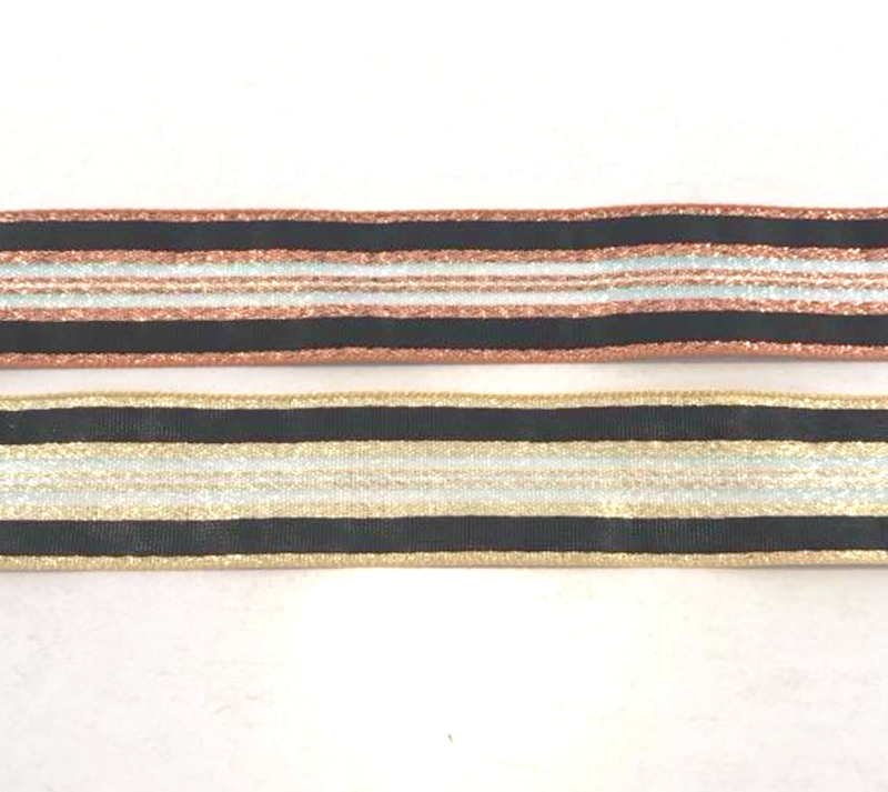 Decoratielint Stripe Goud - 25mm