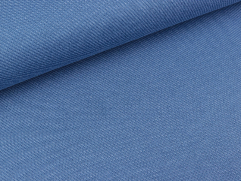 Jaquard-Jersey - Blauw