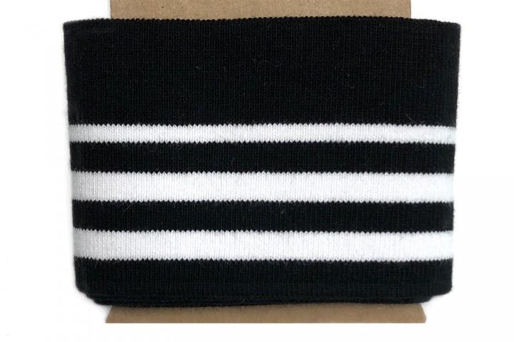 Boord met dun streepje zwart-wit