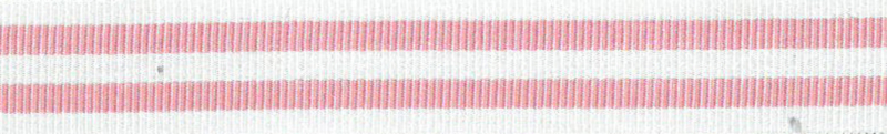 Ripsband Stripe Roze-Wit - 15mm