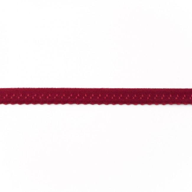 Elastische Biaisband Luxe - Bordeaux